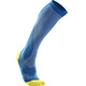 2XU M's Compression Performance Run Sock Vibrant Blue/Canary Yellow